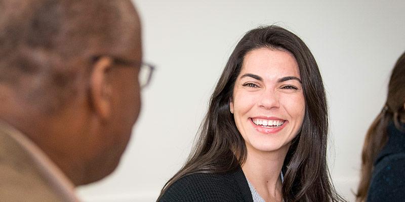 non-degree student smiling