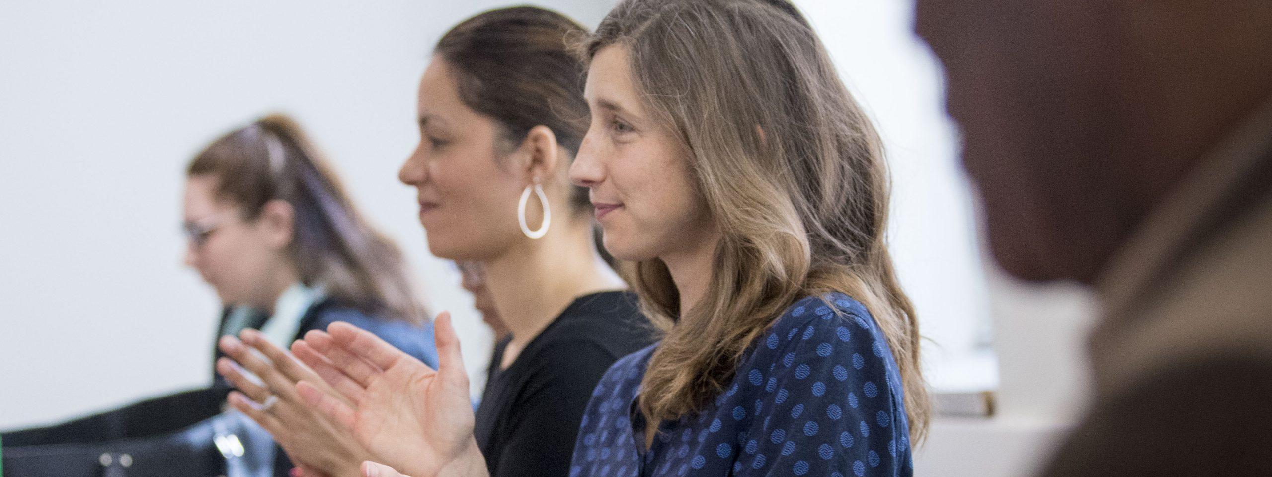 two women in class